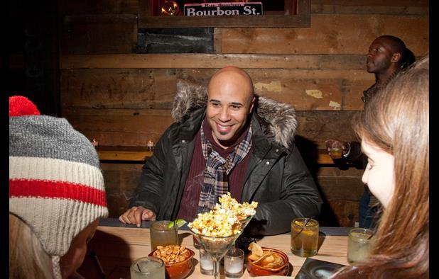 Chris Roe at British Film Commission Sundance party, photographed by Justin Hackworth